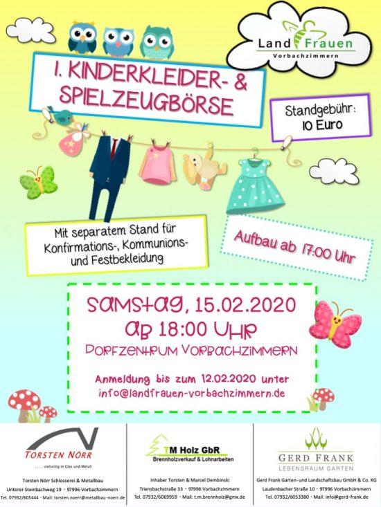 1. Kinderkleider- und Spielzeugbörse in Vorbachzimmern